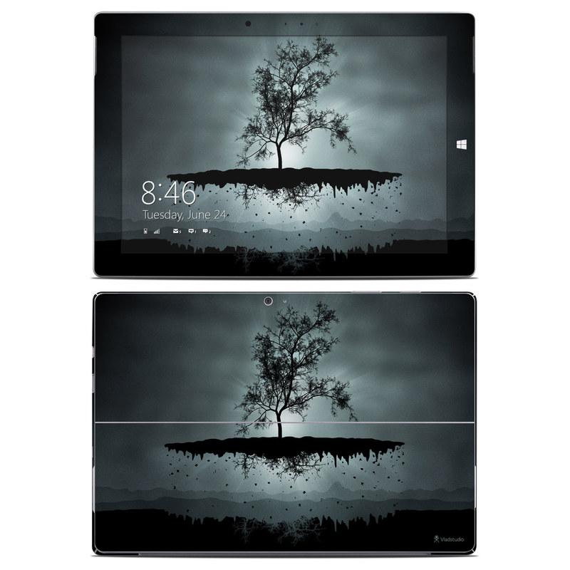 Flying Tree Black Microsoft Surface 3 Skin