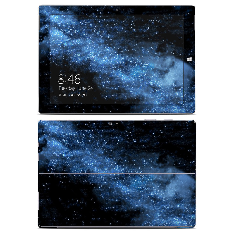 Microsoft Surface 3 Skin design of Sky, Atmosphere, Black, Blue, Outer space, Atmospheric phenomenon, Astronomical object, Darkness, Universe, Space with black, blue colors