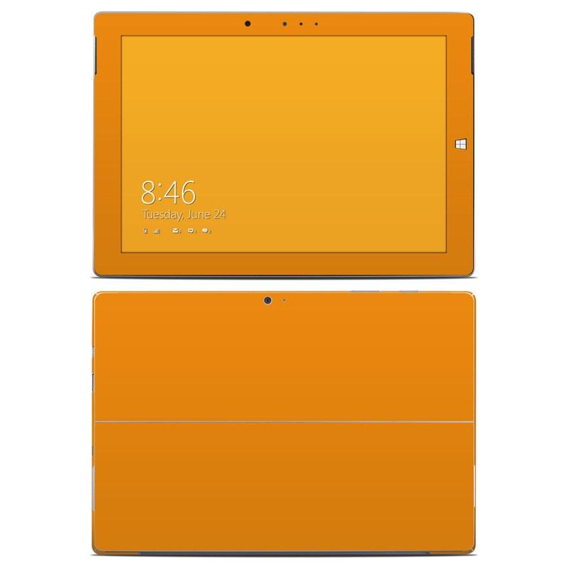 Solid State Orange Microsoft Surface 3 Skin