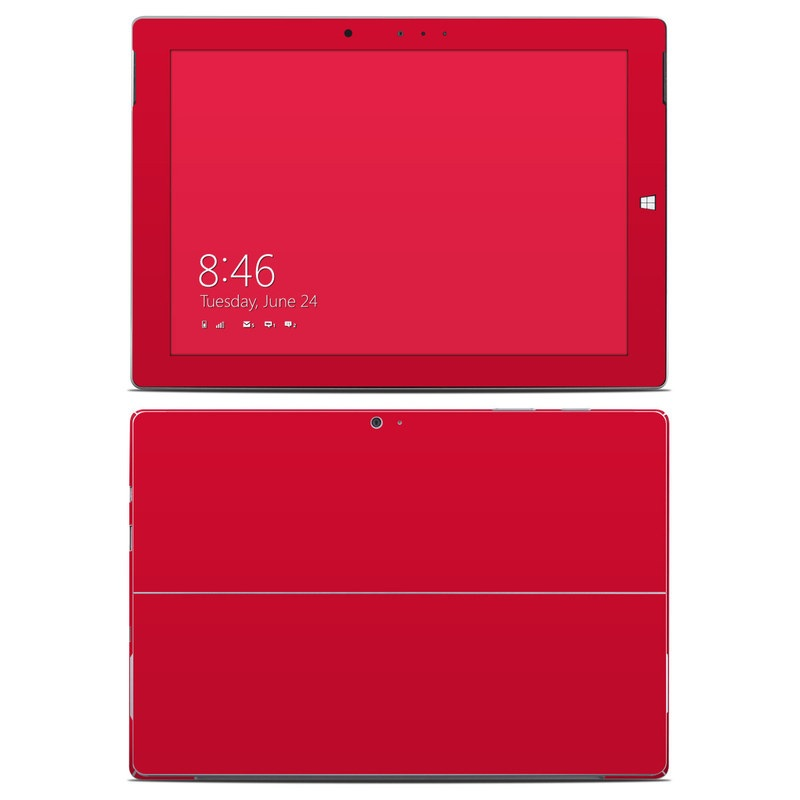 Solid State Red Microsoft Surface 3 Skin