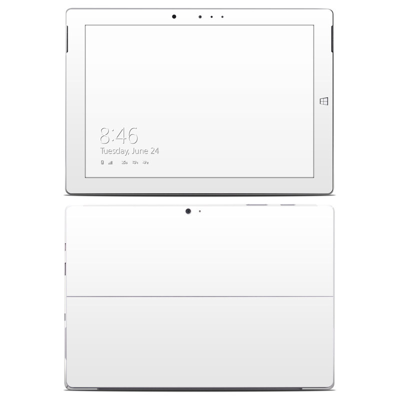 Solid State White Microsoft Surface 3 Skin