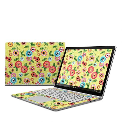 Button Flowers Microsoft Surface Book Skin