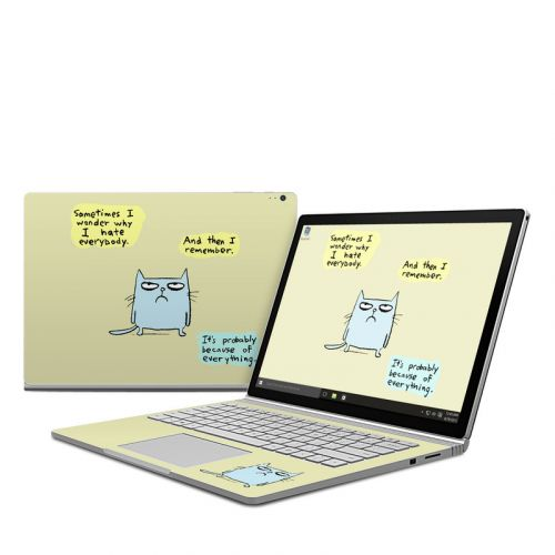 Catwad Hate Microsoft Surface Book Skin