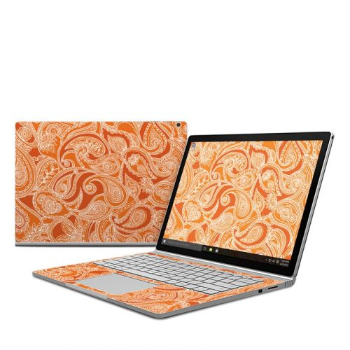Paisley In Orange Microsoft Surface Book Skin