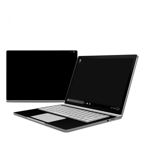 Solid State Black Microsoft Surface Book Skin