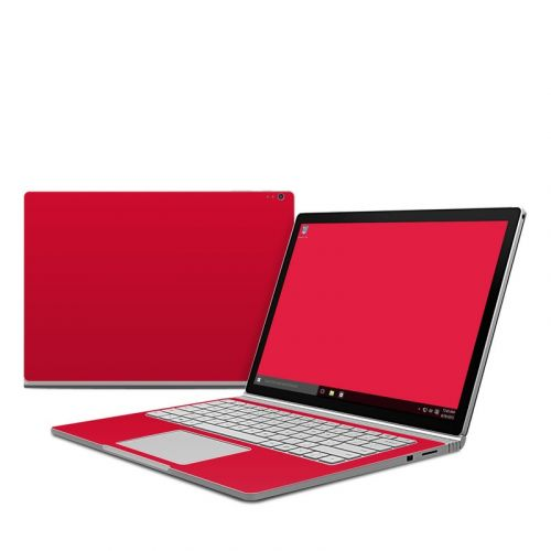 Solid State Red Microsoft Surface Book Skin