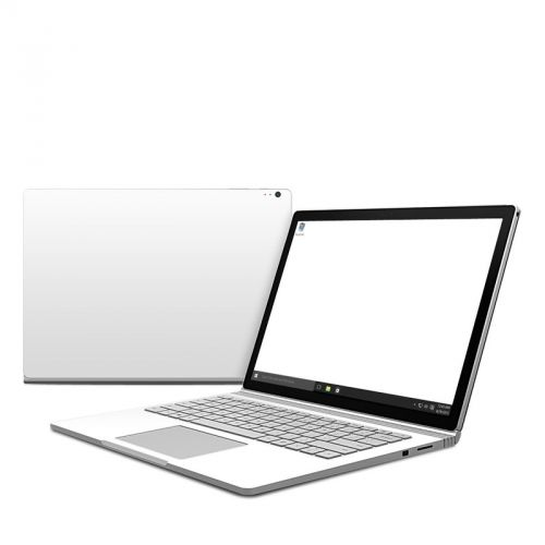 Solid State White Microsoft Surface Book Skin