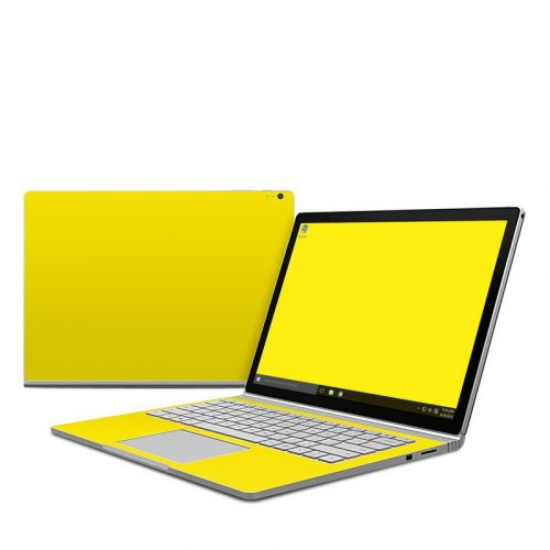 Solid State Yellow Microsoft Surface Book Skin