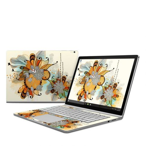 Sunset Flowers Microsoft Surface Book Skin