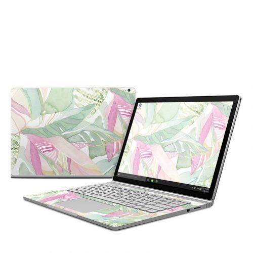 Tropical Leaves Microsoft Surface Book Skin