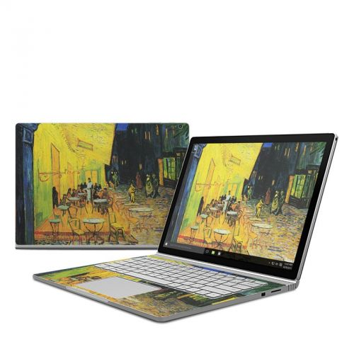 Cafe Terrace At Night Microsoft Surface Book Skin