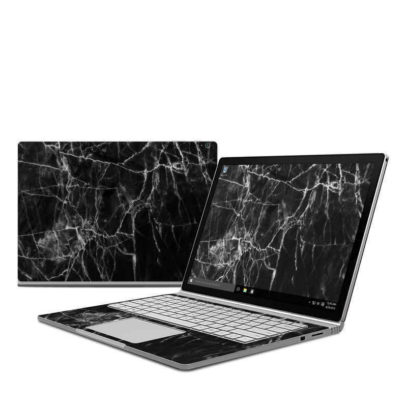 Black Marble Microsoft Surface Book Skin