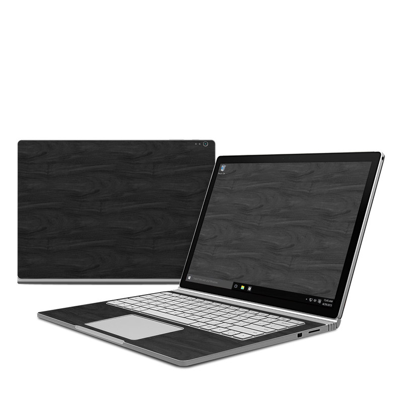Black Woodgrain Microsoft Surface Book Skin
