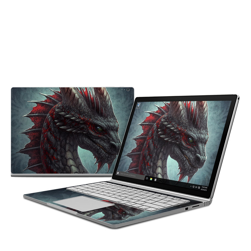Black Dragon Microsoft Surface Book Skin