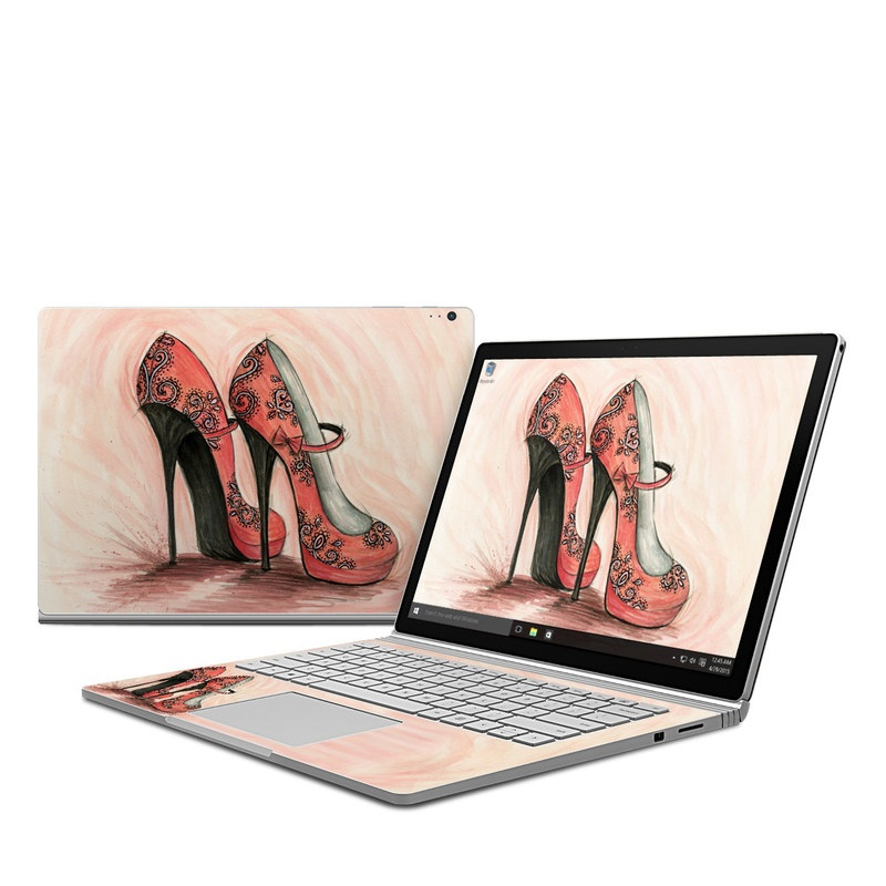 Coral Shoes Microsoft Surface Book Skin