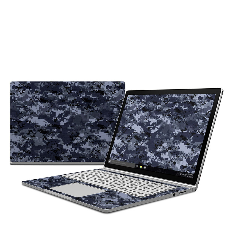 Digital Navy Camo Microsoft Surface Book Skin