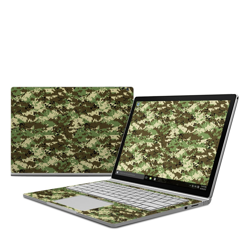 Digital Woodland Camo Microsoft Surface Book Skin