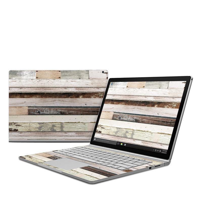 Eclectic Wood Microsoft Surface Book Skin