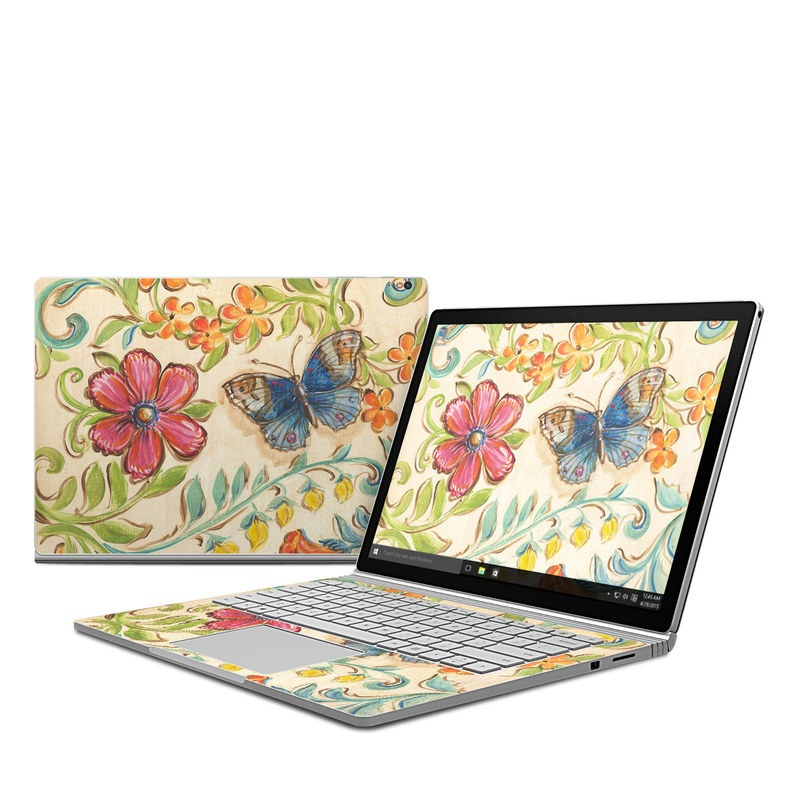 Garden Scroll Microsoft Surface Book Skin