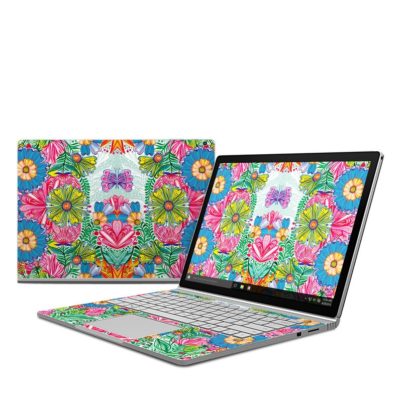 Jungle Flowers Microsoft Surface Book 1 Skin