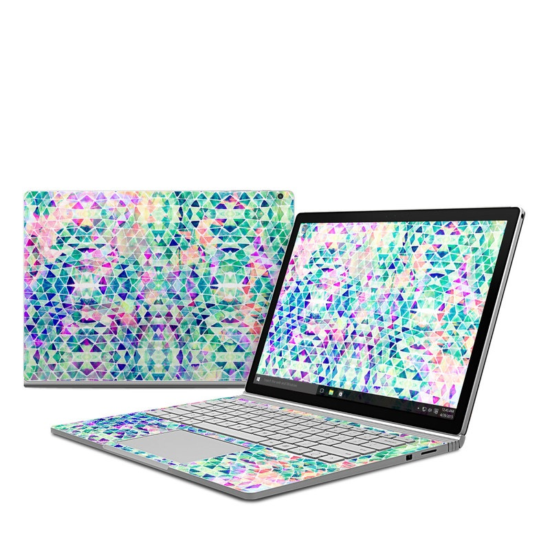 Pastel Triangle Microsoft Surface Book Skin