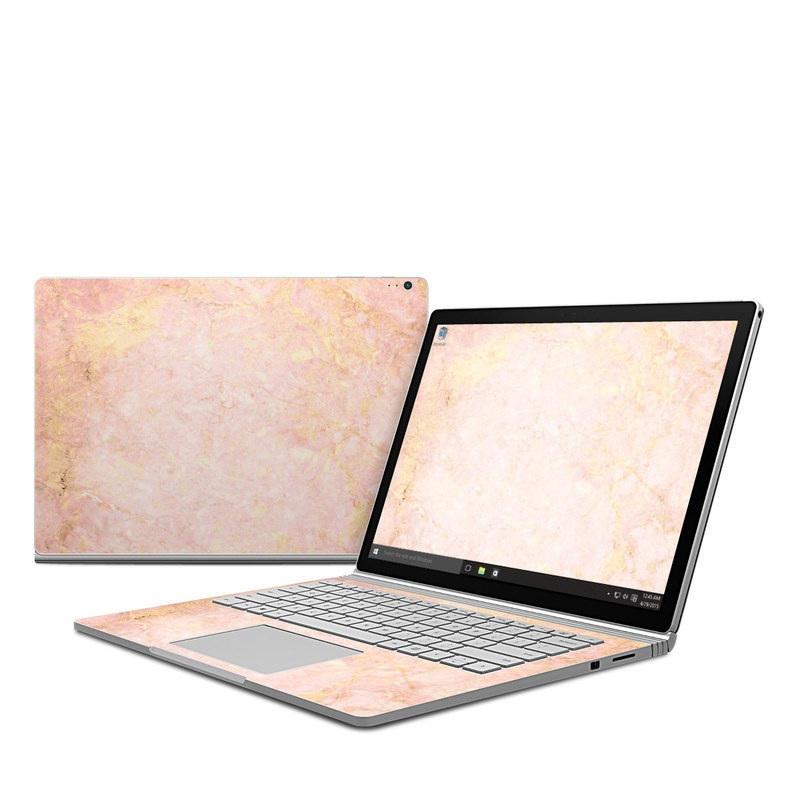 Rose Gold Marble Microsoft Surface Book Skin