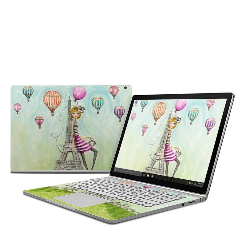 The Sights Paris Microsoft Surface Book Skin