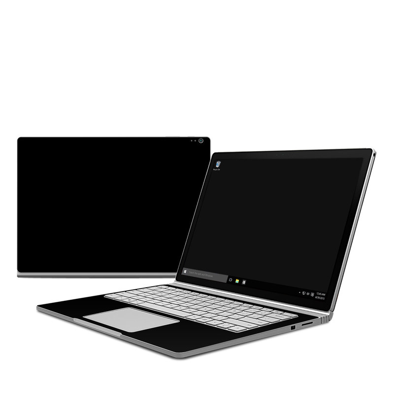 Solid State Black Microsoft Surface Book 1 Skin