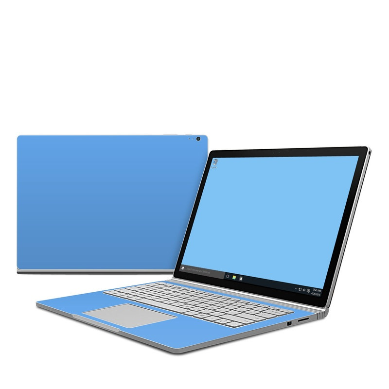 Solid State Blue Microsoft Surface Book Skin