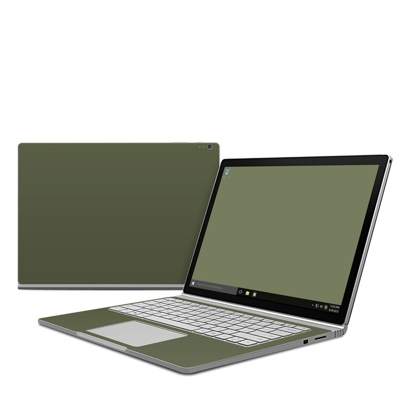 Microsoft Surface Book 1 Skin design of Green, Brown, Text, Yellow, Grass, Font, Pattern, Beige with green colors