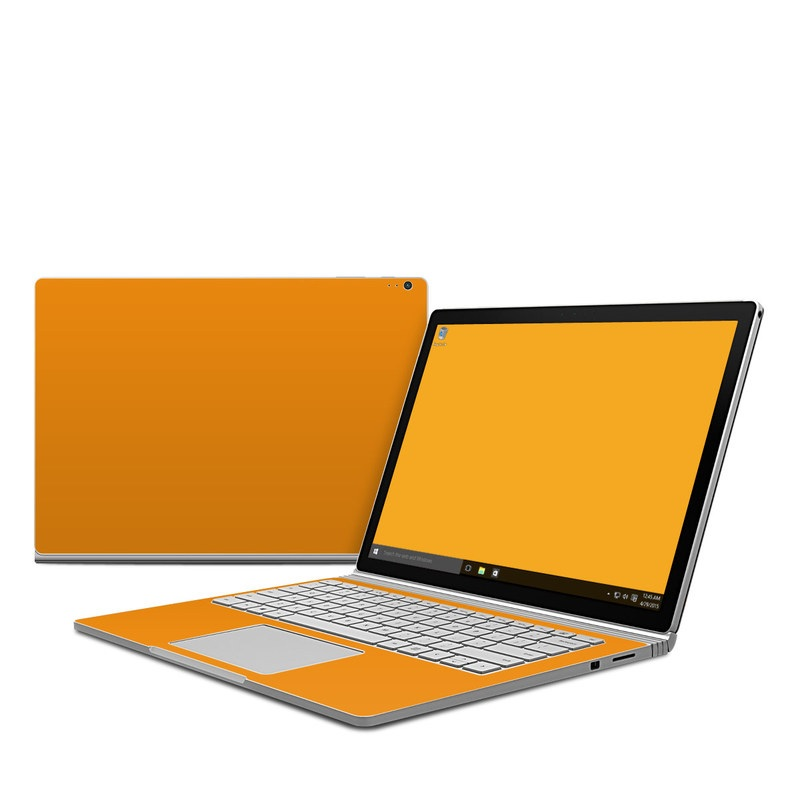 Solid State Orange Microsoft Surface Book Skin