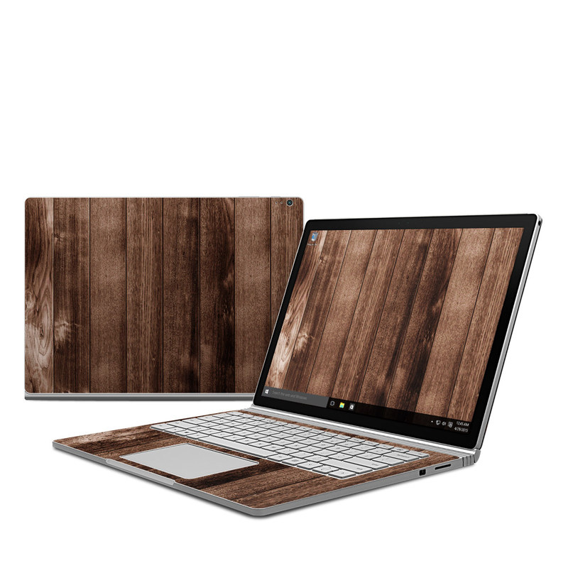 Stained Wood Microsoft Surface Book Skin