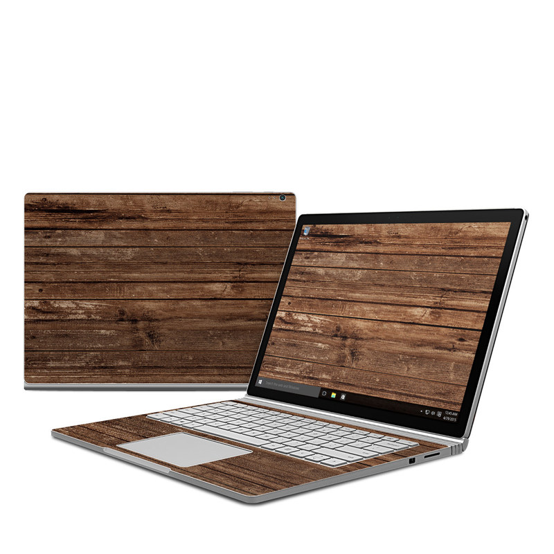 Stripped Wood Microsoft Surface Book Skin