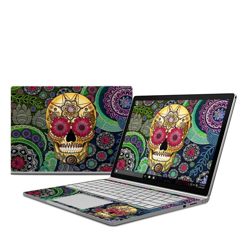 Sugar Skull Paisley Microsoft Surface Book Skin