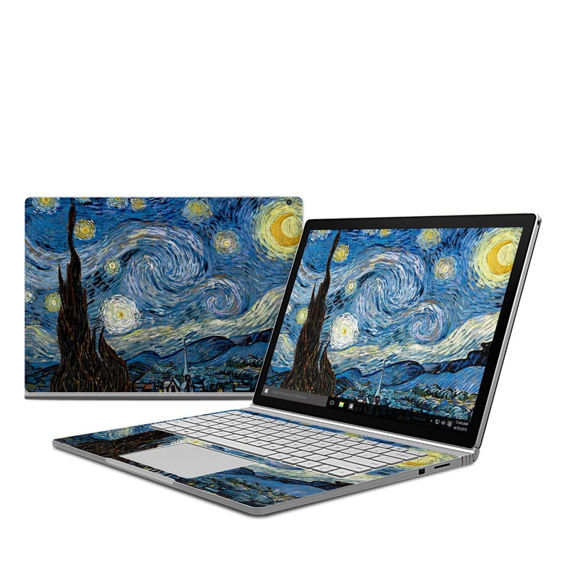 Starry Night Microsoft Surface Book Skin