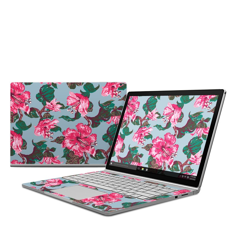 Vintage Hibiscus Microsoft Surface Book Skin