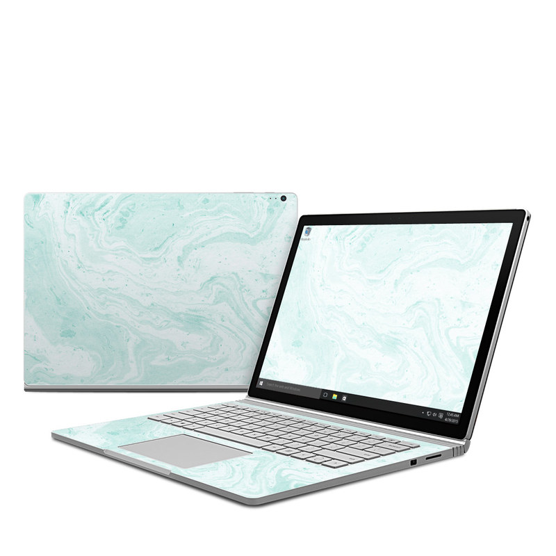 Winter Green Marble Microsoft Surface Book 1 Skin