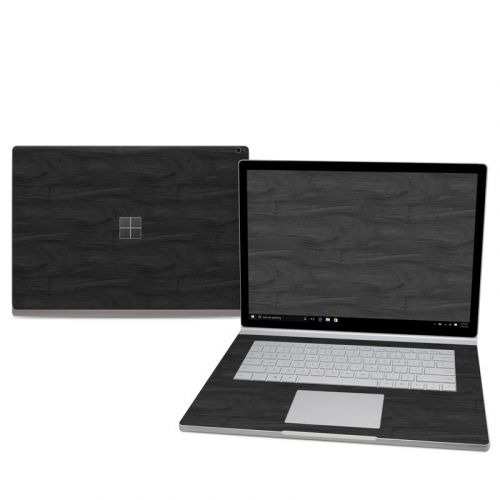 Black Woodgrain Microsoft Surface Book 2 15-inch Skin
