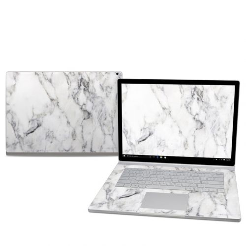 White Marble Microsoft Surface Book 2 15-inch Skin