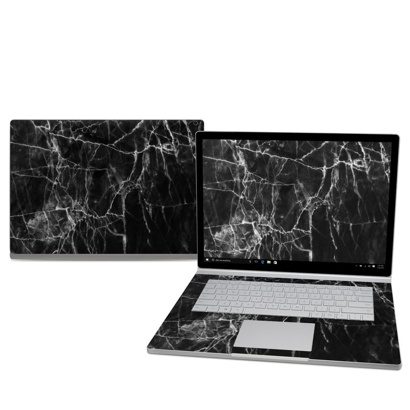 Black Marble Microsoft Surface Book 2 15-inch Skin