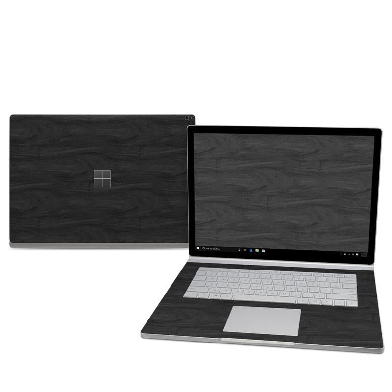 Black Woodgrain Microsoft Surface Book 2 15-inch Skin