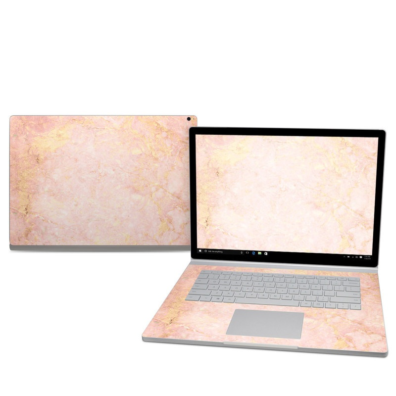 Rose Gold Marble Microsoft Surface Book 2 15-inch Skin