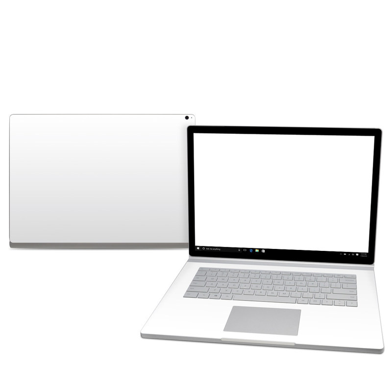 Microsoft Surface Book 2 15-inch Skin design of White, Black, Line with white colors