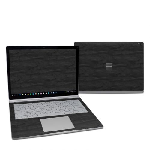 Black Woodgrain Microsoft Surface Book 2 13.5-inch i7 Skin