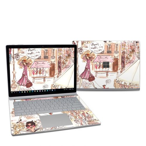 Paris Makes Me Happy Microsoft Surface Book 2 13.5-inch i7 Skin