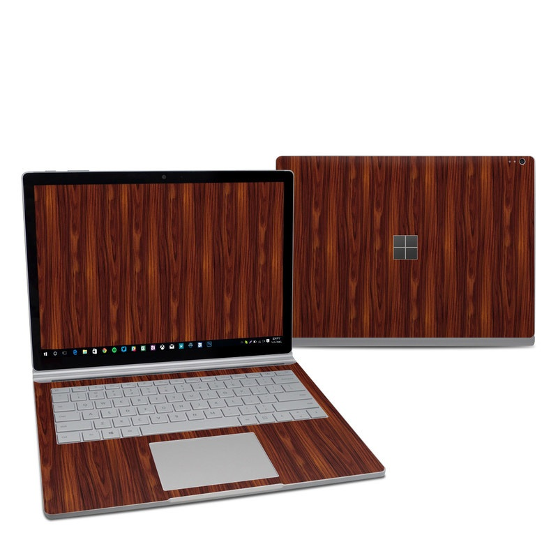 Microsoft Surface Book 2 13.5-inch i7 Skin design of Wood, Red, Brown, Hardwood, Wood flooring, Wood stain, Caramel color, Laminate flooring, Flooring, Varnish with black, red colors