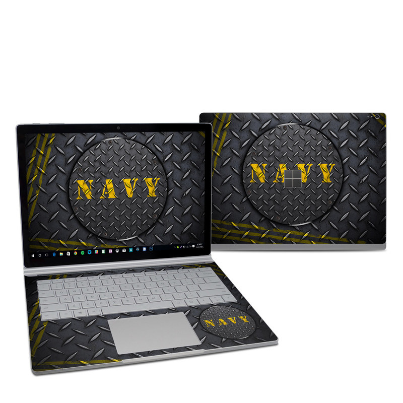 navy diamond plate microsoft surface book 2 13 5 inch i7 skin istyles