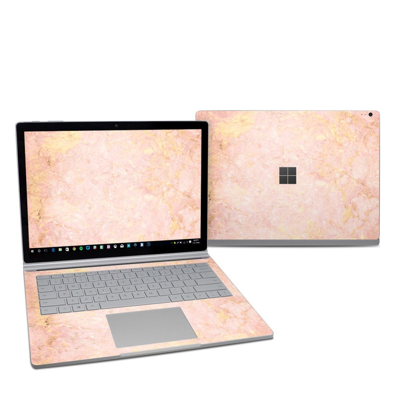 Microsoft Surface Book 2 13.5-inch i7 Skin design of Pink, Peach, Wallpaper, Pattern with pink, yellow, orange colors