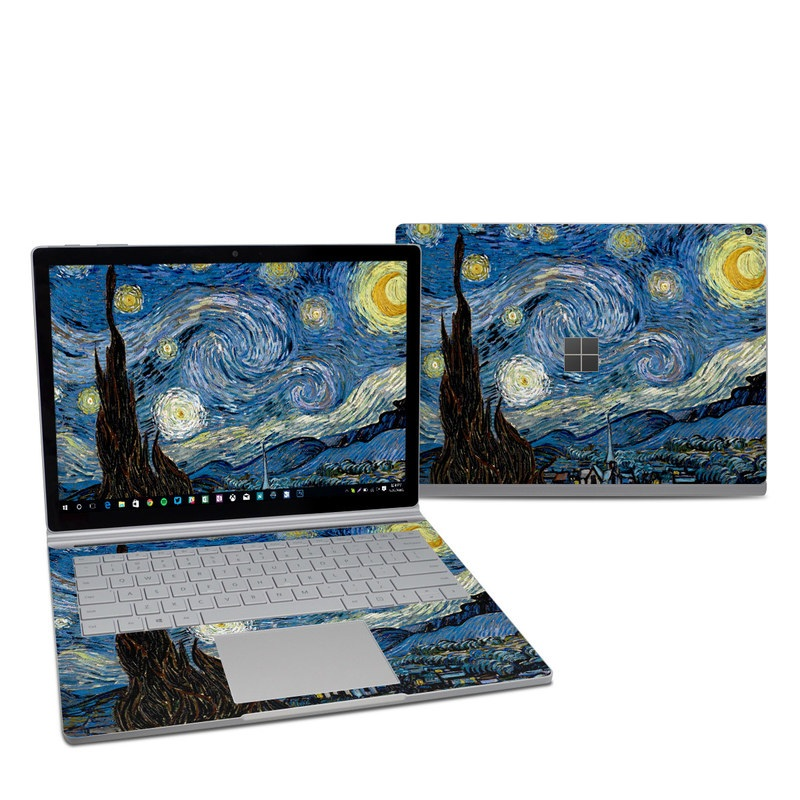 Microsoft Surface Book 2 13.5-inch i7 Skin design of Painting, Purple, Art, Tree, Illustration, Organism, Watercolor paint, Space, Modern art, Plant with gray, black, blue, green colors