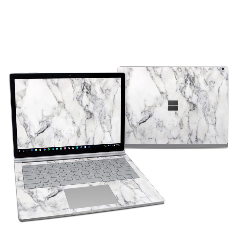 White Marble Microsoft Surface Book 2 13.5-inch i7 Skin